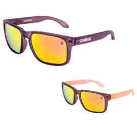 OMBAK HAWAII 01-003 FROSTED BLACK/FIRE IRIDIUM POLARIZED/ORANGE EXTRA ARM