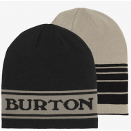 BURTON BILLBOARD REVERSIBLE BEANIE TRUE BLACK/IRON GRAY