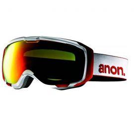 ANON M1 WHITE/RED SOLEX + SPARE LENS BLUE LAGOON