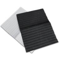 UNIFIBER FOOTPAD SHEET SELF-ADHESIVE 80 x 60 cm DIAMOND GROOVE BLACK