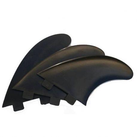 SET 3 SURF FCS M3 BLACK FINS