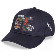 GRIMEY DESTTROY ALL FEAR CURVED CURVED VISOR CAP - BLACK | FALL 21