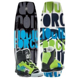 LIQUID FORCE COMBO FURY GRIND 125 + KIDS FURY BINDINGS 4/6 US (35/38 EU)