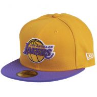 NEW ERA CAP NBA BASIC LOSLAK YELLOW/PURPLE