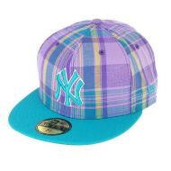 NEW ERA CAP PLAID POP PURPLE/TEAL