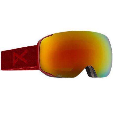 ANON M2 BLAZE RED SOLEX + SPARE LENS
