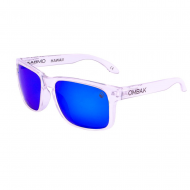 OMBAK HAWAII POLISHED CLEAR BLUE IRIDIUM POLARIZED BLUE EXTRA ARM