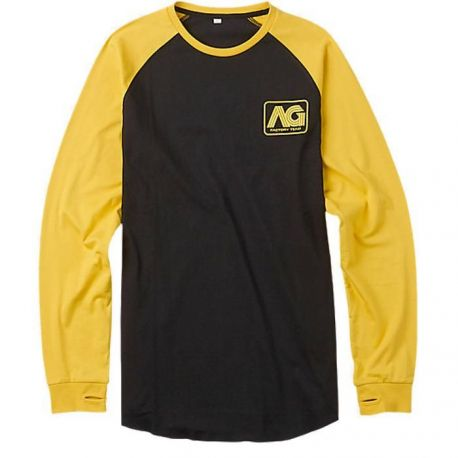 ANALOG AGONIZE LONG SLEEVE T-SHIRT TRUE BLACK/YELLOW