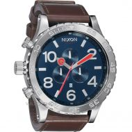 NIXON 51-30 CHRONO LEATHER NAVY BROWN