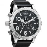 NIXON 51-30 CHRONO LEATHER BLACK