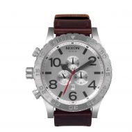 NIXON 51-30 CHRONO LEATHER SILVER BROWN