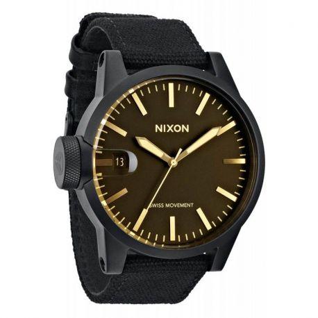 NIXON CHRONICLE MATTE BLACK/ORANGE TINT