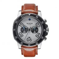 NIXON RANGER CHRONO LEATHER SILVER/SADDLE