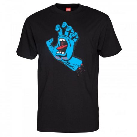 SANTA CRUZ SCREAMING HAND BLK TEE