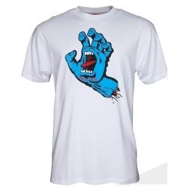 SANTA CRUZ SCREAMING HAND WHT TEE