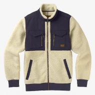 BURTON BOWER FLEECE FULL-ZIP BONE WHITE