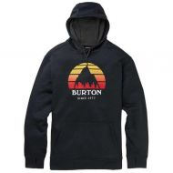 BURTON MENS OAK PULL OVER SUNSET TRUE BLACK HEATHER