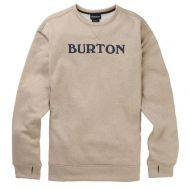 BURTON MENS OAK CREW PLAZA TAUPE HEATHER