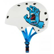 BULLET x SANTA CRUZ HELMET SCREAMING HAND MATTE WHITE